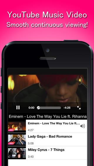 MusicClip - YouTube Music Video Player Free - Imagem 1 do software