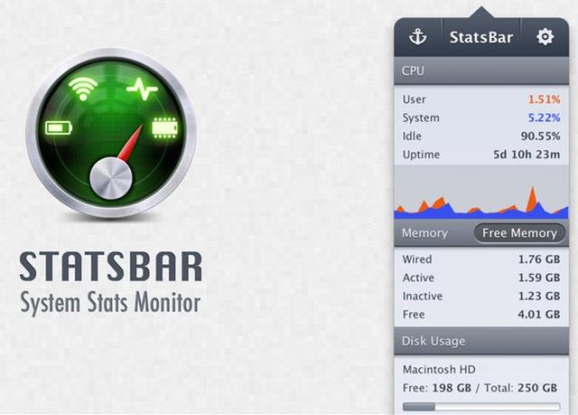 StatsBar - System Monitor - Imagem 1 do software