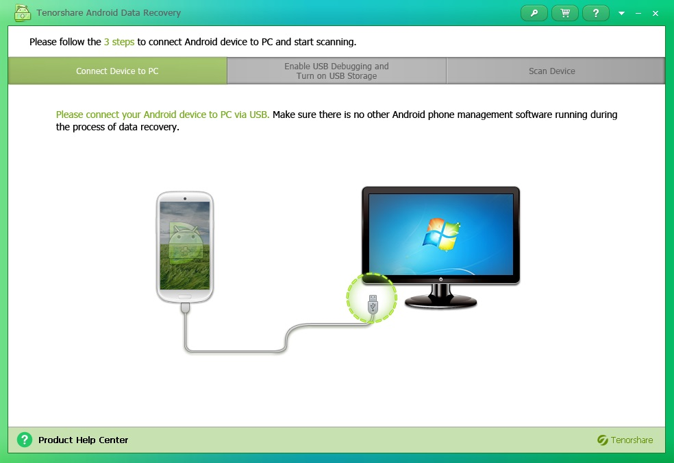Tenorshare Android Data Recovery - Imagem 1 do software