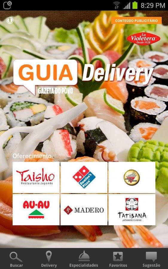 Guia Delivery Gazeta do Povo - Imagem 1 do software