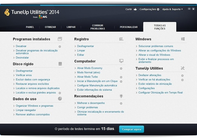 TuneUp Utilities - Imagem 2 do software