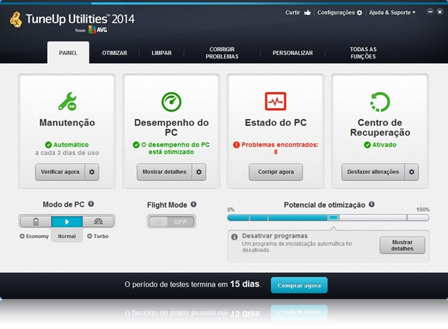TuneUp Utilities - Imagem 1 do software