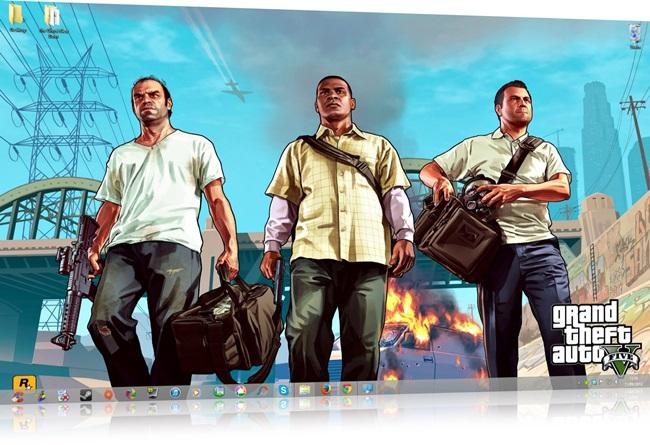 GTA V Windows 7 Theme.