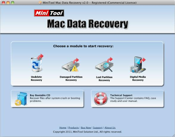 MiniTool Mac Data Recovery Free Edition - Imagem 1 do software