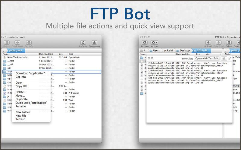 FTP Bot - Fast FTP Client Download para Mac