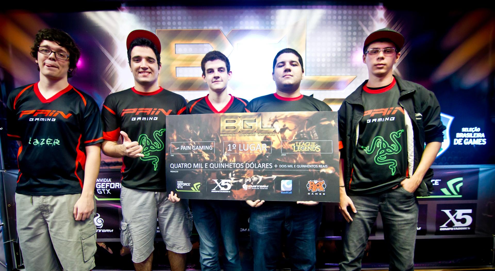640 mil pessoas acompanharam a vitória da paiN Gaming na BGL Arena de League of Legends. Foto: Reprodução/x5computadores