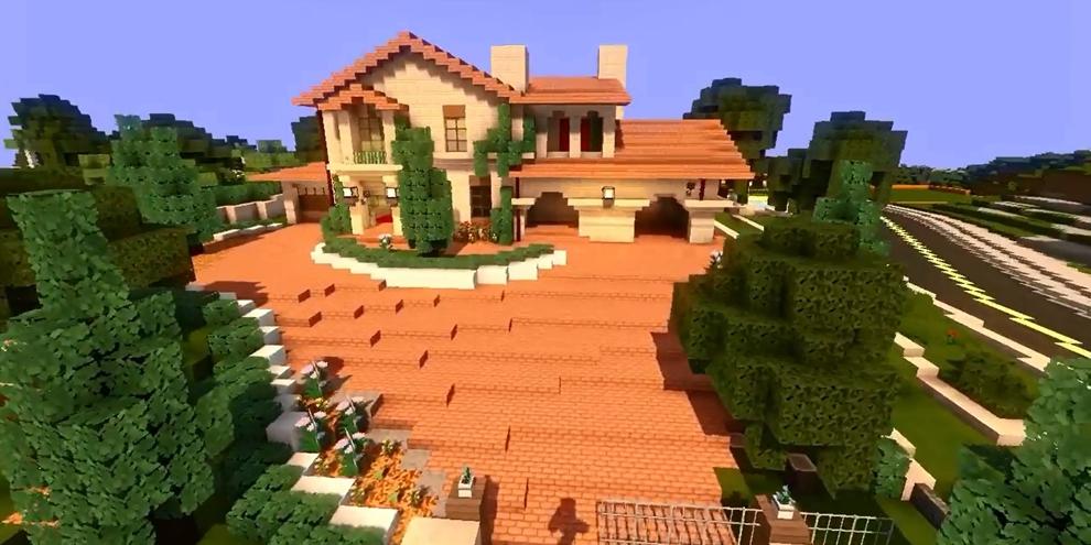 F recria casa de michael de gta 5 no minecraft voxel for Piccoli progetti di casa di minecraft