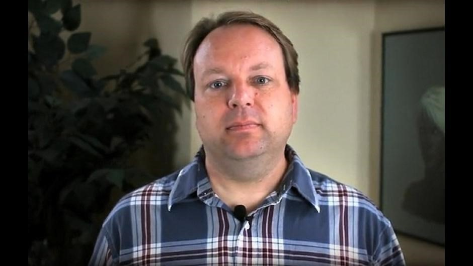 Feargus Urquhart, o entrevistado. Reprodução/CVG