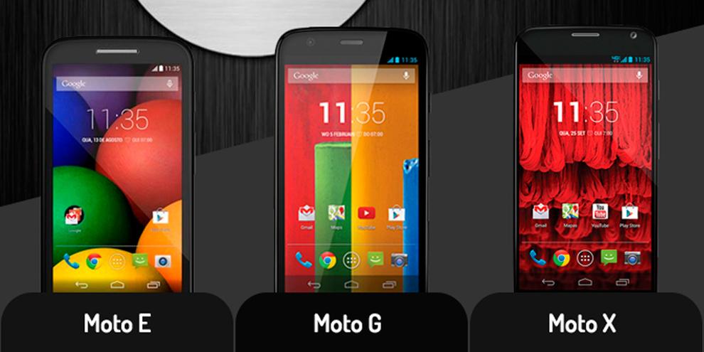 Comparação: veja as diferenças entre Moto E, Moto G e Moto X [vídeo]