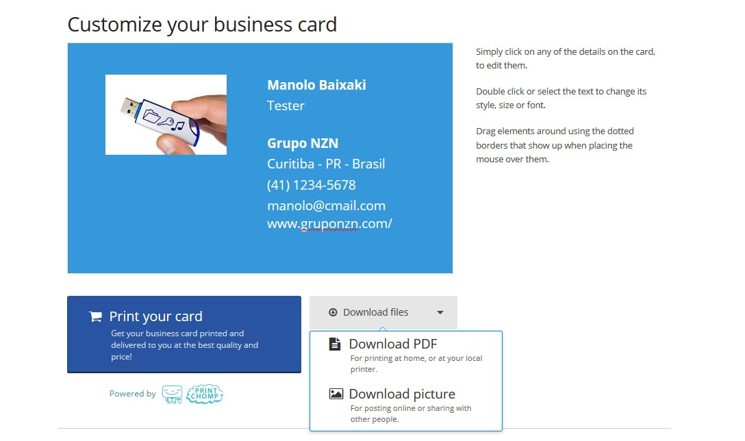 Business card maker download 1 reheart Images