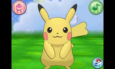 Pikachu fêmea, com cauda em formato de coração