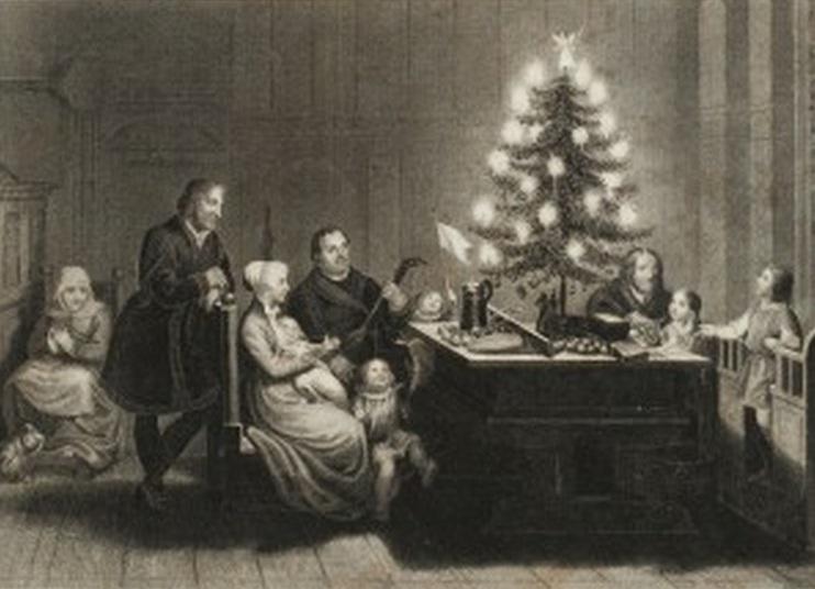 Resultado de imagem para Martinho Lutero. e a arvore de natal