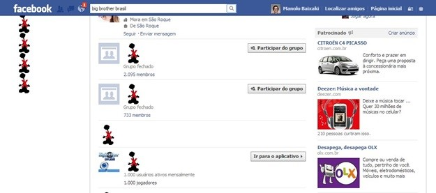 Bloqueando o conteúdo no Facebook