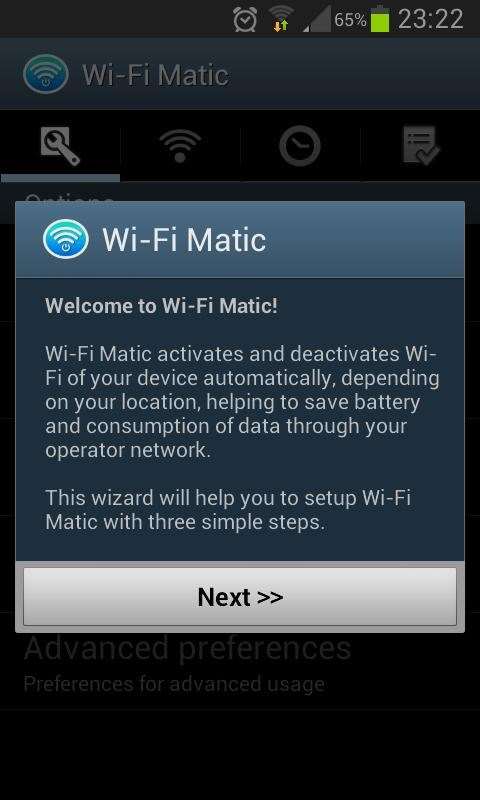 Wi-Fi Matic - Auto WiFi On Off - Imagem 1 do software