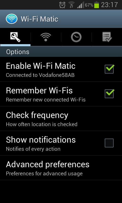 Wi-Fi Matic - Auto WiFi On Off - Imagem 2 do software