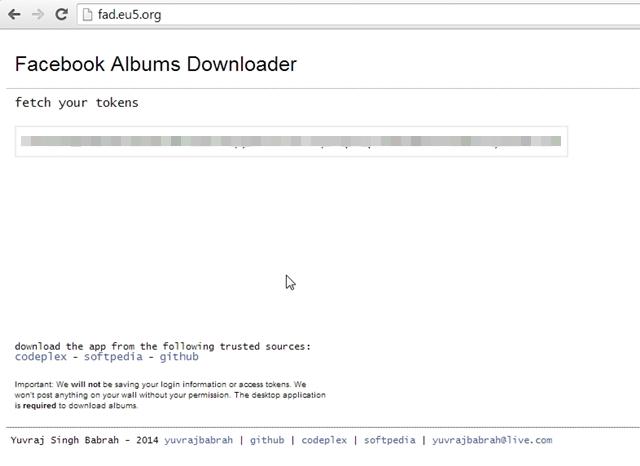 Facebook Album Downloader - Imagem 3 do software