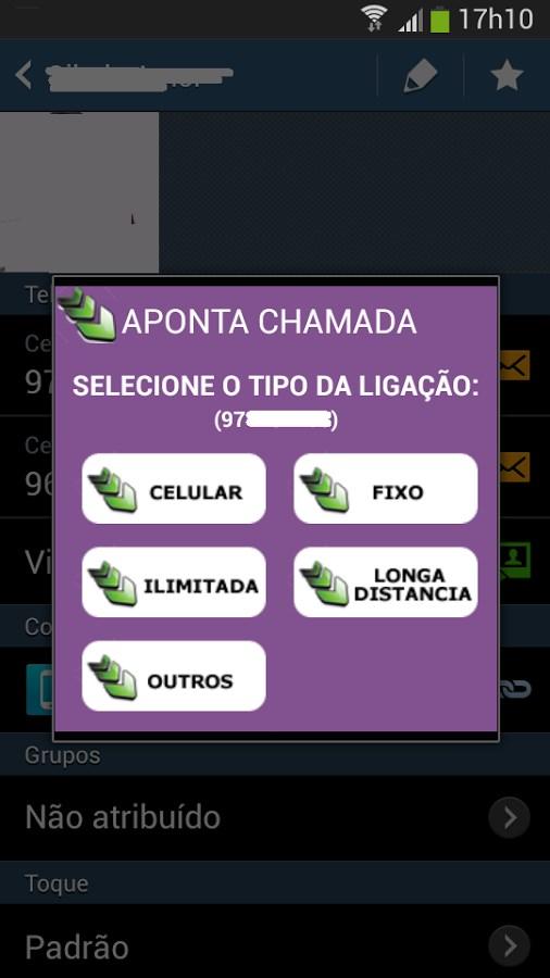 Aponta Chamada - Imagem 2 do software