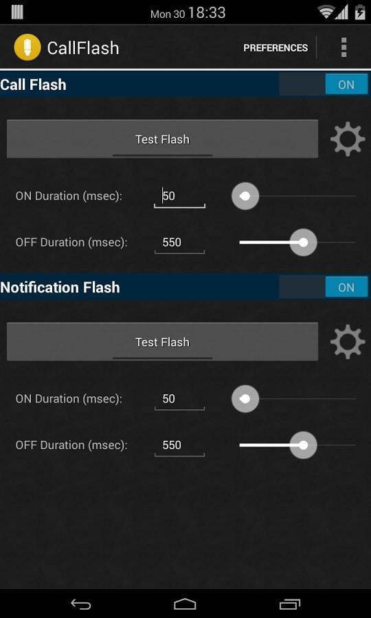 CallFlash:Alert on Call/SMS/IM - Imagem 1 do software