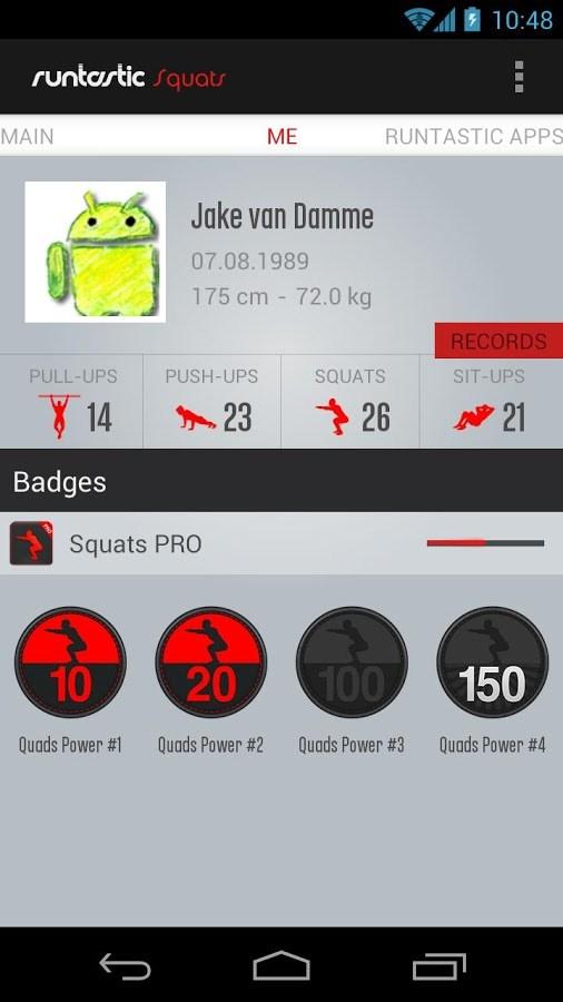 Runtastic Squats PRO - Imagem 2 do software