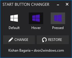 Windows 8.1 Start Button Changer - Imagem 1 do software