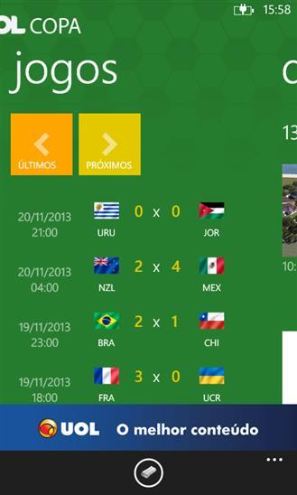 UOL Copa - Imagem 1 do software