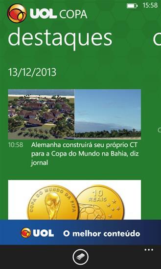 UOL Copa - Imagem 2 do software