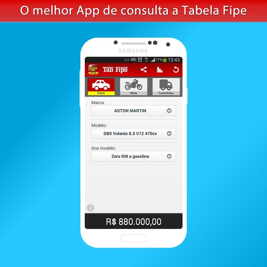 Tab FIPE Pro - Preço automóvel - Imagem 1 do software