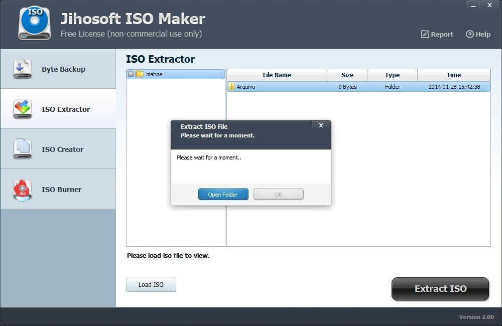Jihosoft ISO Maker Free - Imagem 2 do software