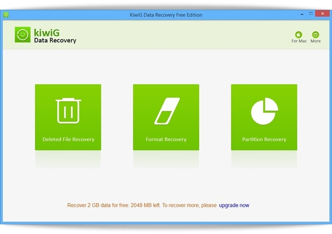 KiwiG Data Recovery Free - Imagem 1 do software