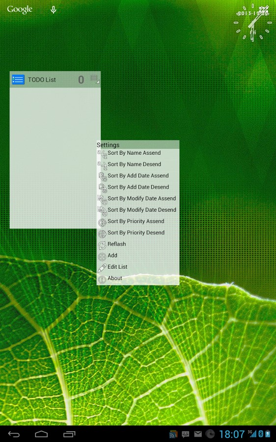 ToDo List widget - Imagem 2 do software