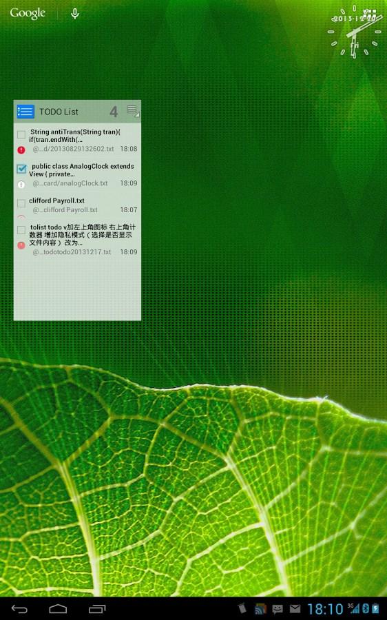 ToDo List widget - Imagem 1 do software