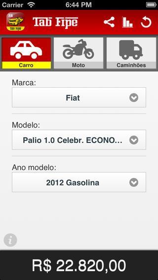 TabFipe - Preço automóvel - Imagem 1 do software