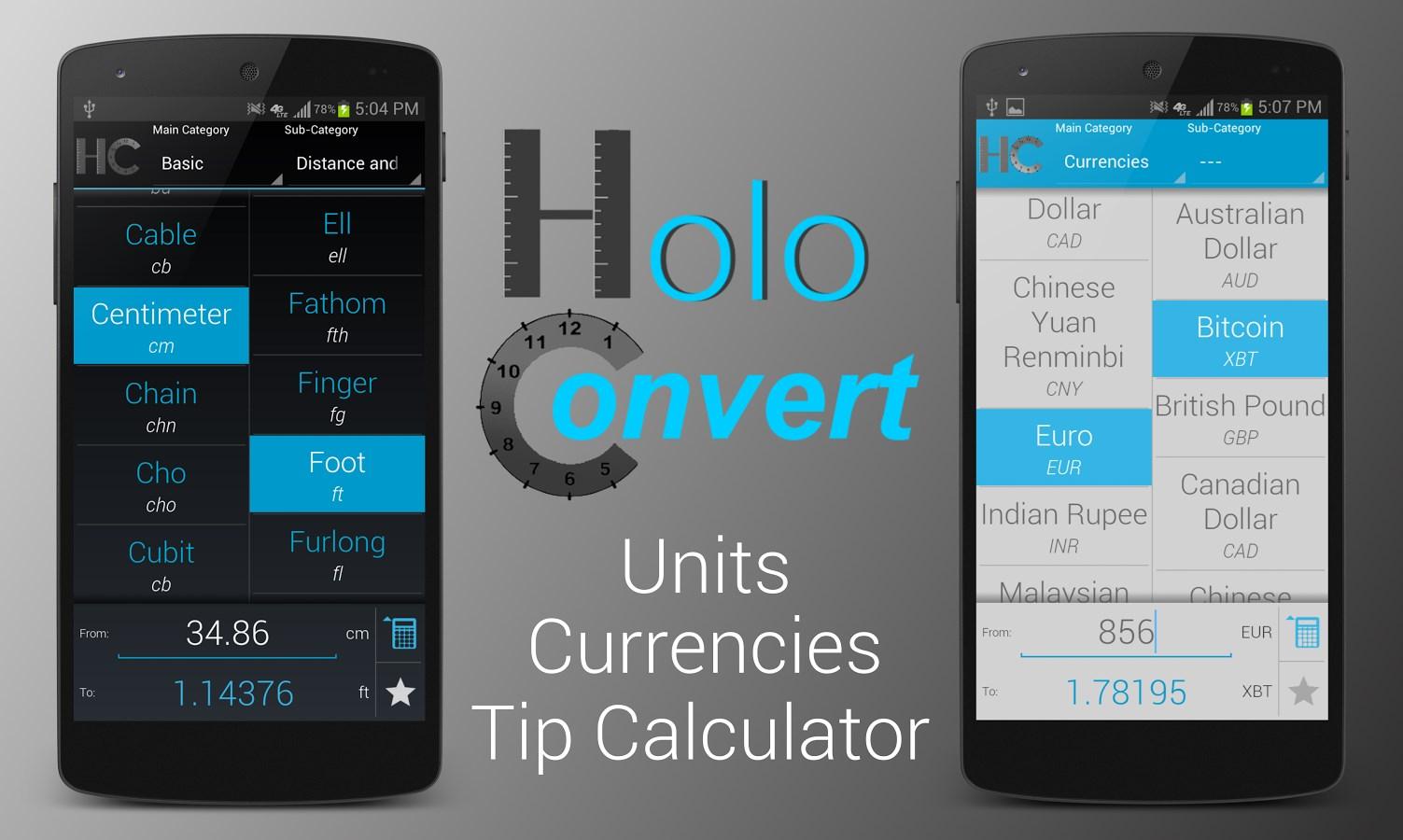 HoloConvert: Unit/Currency/Tip - Imagem 1 do software