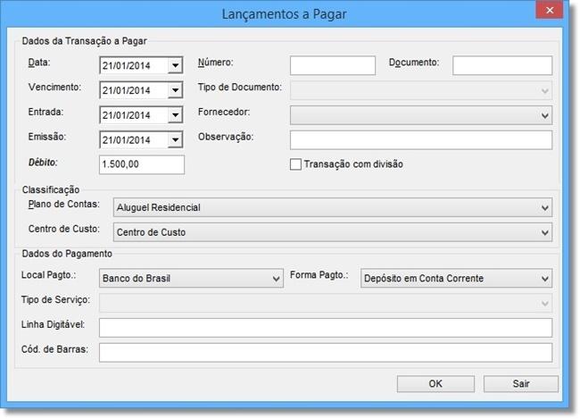 Finance StartUP - Imagem 2 do software