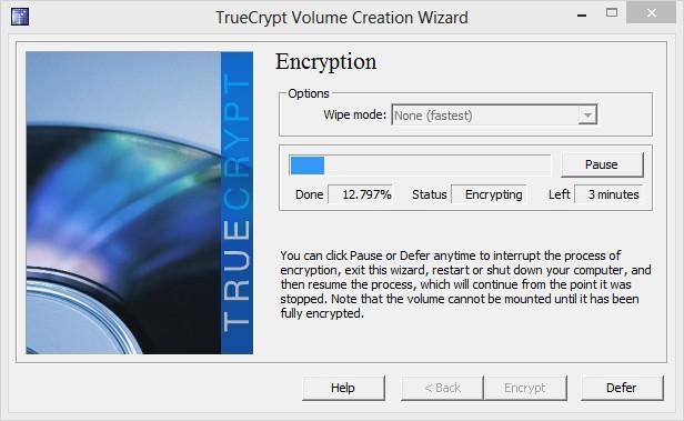 TrueCrypt - Imagem 2 do software