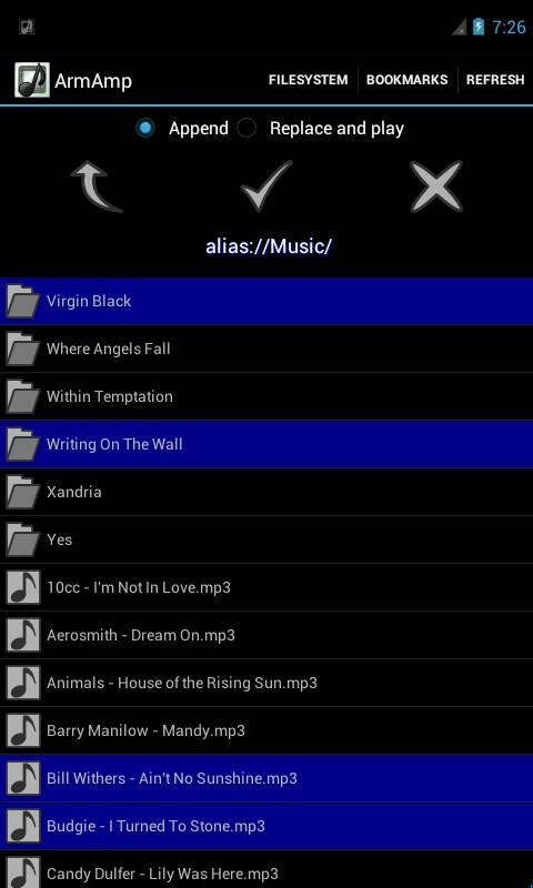 ArmAmp Music Player - Imagem 2 do software