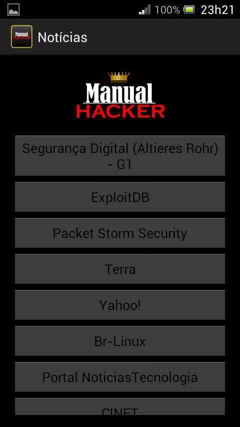 Manual Hacker Gold - Imagem 2 do software