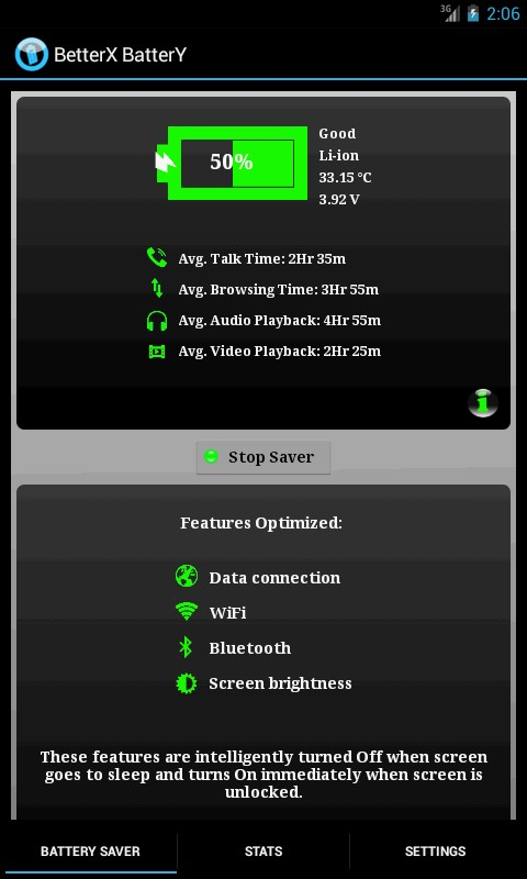 BetterX Battery Trial( 2X Life) - Imagem 2 do software