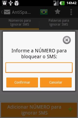AntiSpam SMS Droid - Imagem 2 do software