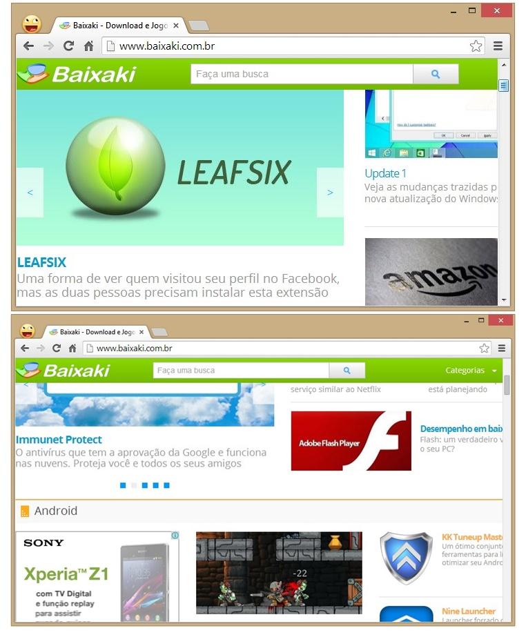 Win7 Scrollbars para Google Chrome - Imagem 1 do software