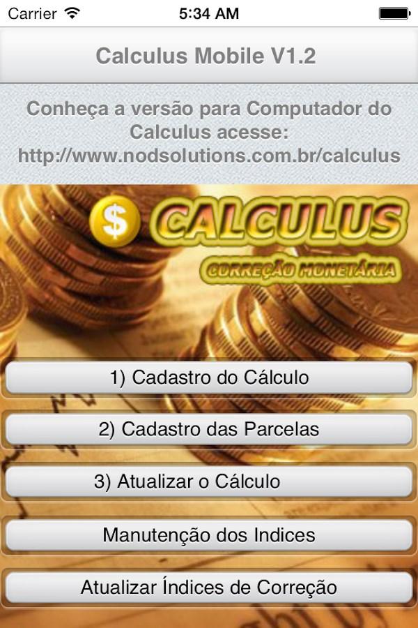 Cálculo Cível Judicial - Imagem 1 do software