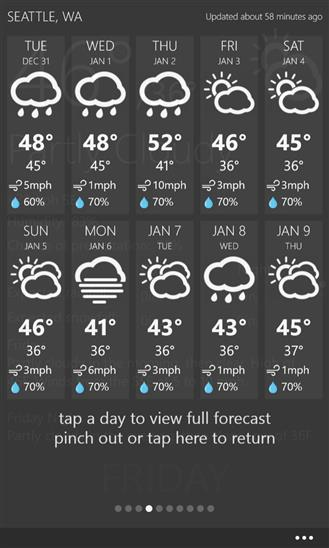 Weather+ - Imagem 4 do software