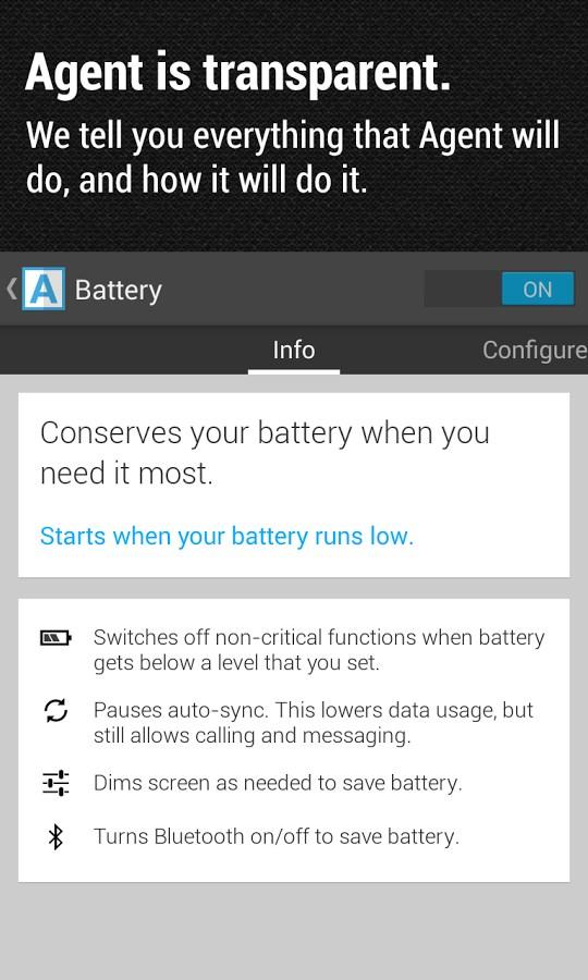 Agent – battery saver & more - Imagem 2 do software
