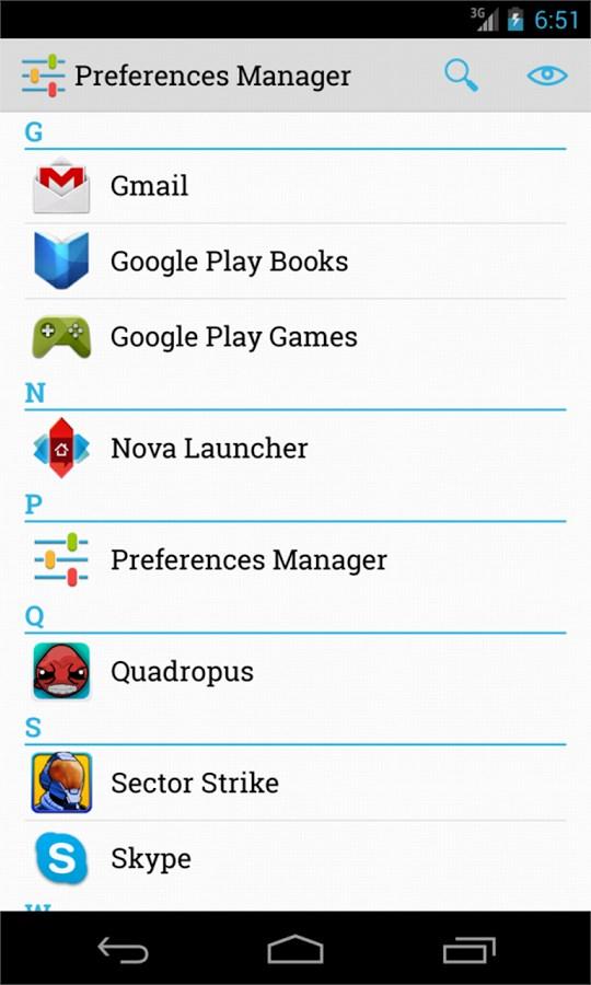 Preferences Manager - Imagem 1 do software