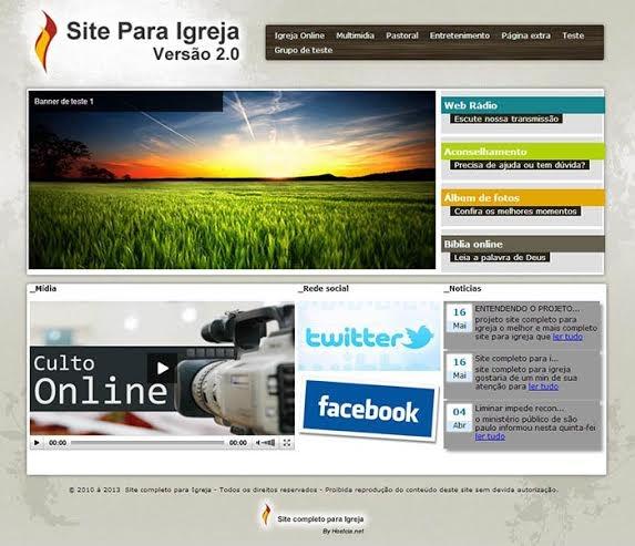 Site para Igreja - Imagem 1 do software