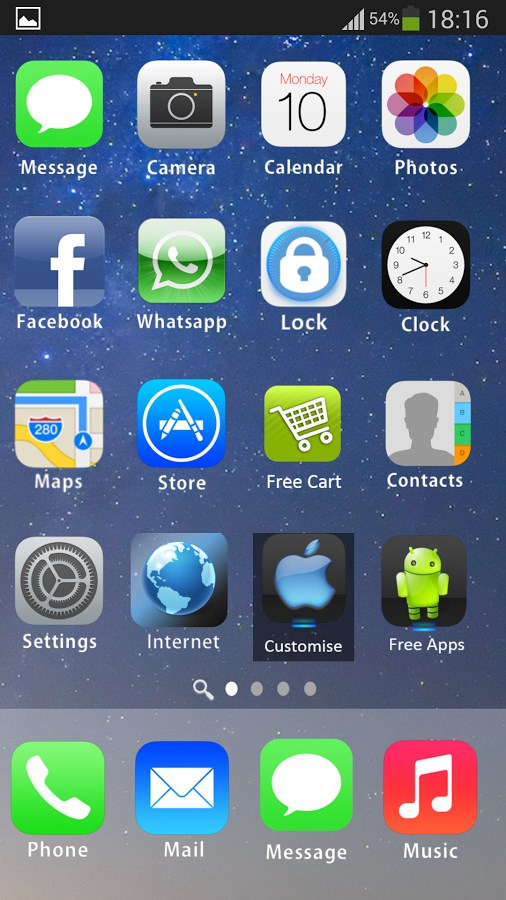 iLauncher 7 i5 Theme HD Free - Imagem 2 do software