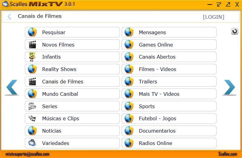 Scalles MixTV - Imagem 1 do software