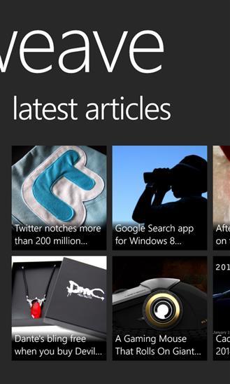 Weave News Reader - Imagem 4 do software