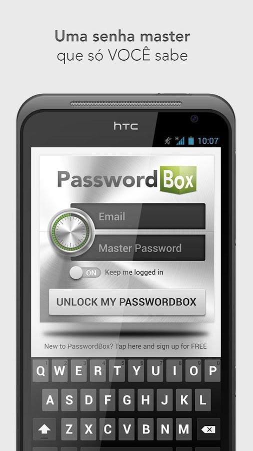PasswordBox Gerenciador Senhas - Imagem 1 do software