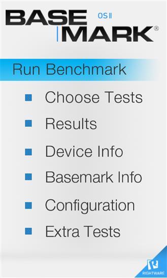 Basemark OS II - Imagem 1 do software